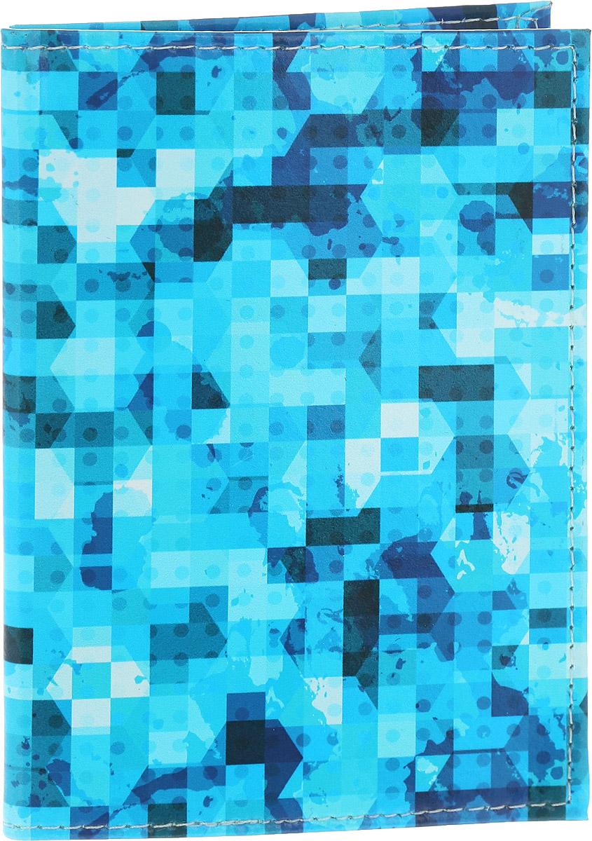Обложка для паспорта Driver, цвет: голубой. ВДОПК9Натуральная кожаОбложка для паспорта Driver изготовлена из 100% натуральной кожи высокого качества и имеет эксклюзивный яркий дизайн. Рисунок нанесен эко-красителем и гипоаллергенен. Документ надежно фиксируются внутри при помощи двух прозрачных клапанов, расположенных на внутреннем развороте обложки. Также внутри находятся два клапана для SIM-карт и один клапан для банковской карты. Обложка оформлена геометрическим узором. br> Оригинальные обложки для паспорта - это прекрасный способ поднять настроение не только себе, но и окружающим людям. Забавные рисунки и весёлые надписи непременно вызовут улыбку у каждого, кто увидит ваши документы.Также это прекрасный способ сделать оригинальный подарок, подобрав обложку, которая идеально подходит тому или иному человеку. Для тех, кто любит все необычное и болеет творчеством, креативом и позитивом!