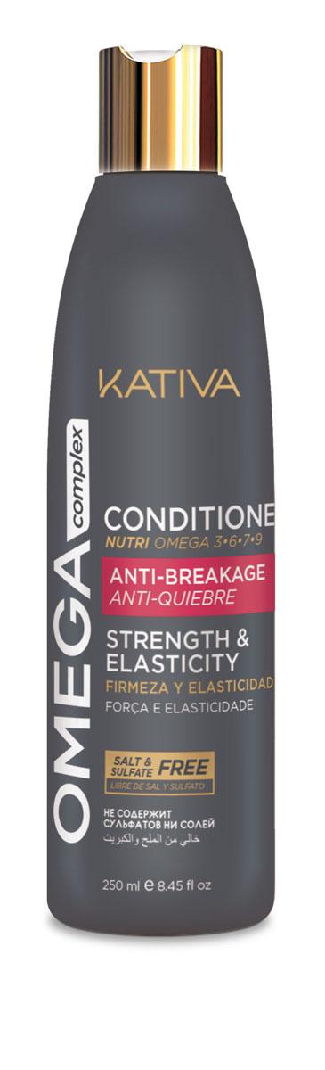 Kativa Кондиционер для поврежденных волос OMEGA COMPLEX65503294Кондиционер Kativa Omega Complex разработан специально для восстановления поврежденных волос. Насыщенная формула с комплексом омега- и аминокислот дарит волосам здоровье и красоту. Восстанавливающий кондиционер Kativa повышает устойчивость волос к повреждениям, устраняет ломкость, склеивает секущиеся кончики.