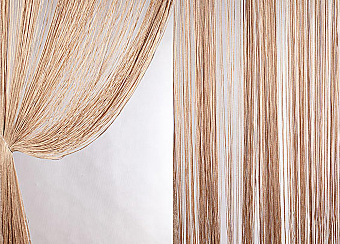 Штора нитяная Magnolia Кисея, на ленте, цвет: коричневый, высота 300 см. XLF DS 1454629Штора нитяная Magnolia Кисея выполнена из полиэстера. Изделие прекрасно подойдет для дизайнерских решений в вашем доме. Подходит как для зонирования пространства, так и декорации окна, как самостоятельное решение или дополнение к шторам.