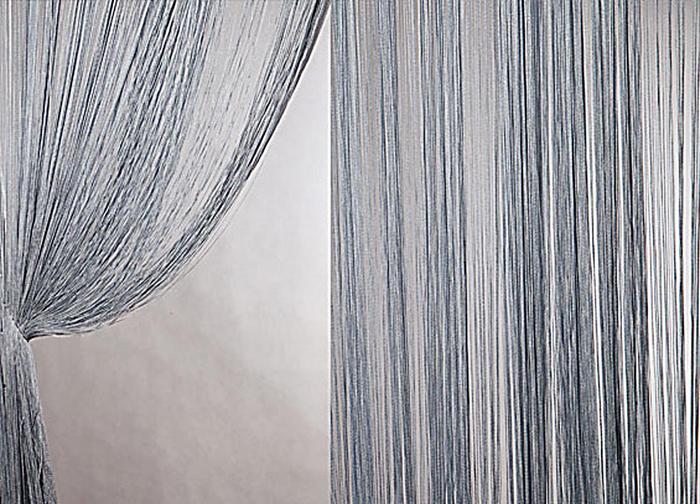 Штора нитяная Magnolia Кисея, на ленте, цвет: серый, высота 300 см. XLF DS 0754647Штора нитяная Magnolia Кисея выполнена из полиэстера. Изделие прекрасно подойдет для дизайнерских решений в вашем доме. Подходит как для зонирования пространства так и декорации окна, как самостоятельное решение или дополнение к шторам.