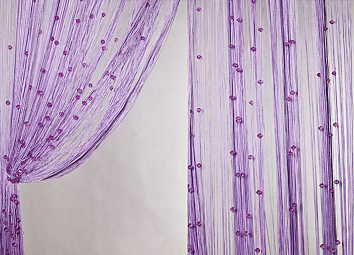 Штора нитяная Magnolia Кисея, на ленте, цвет: фиолетовый, высота 300 см. XLF SJ 1254685Штора нитяная Magnolia Кисея выполнена из полиэстера. Изделие прекрасно подойдет для дизайнерских решений в вашем доме. Подходит как для зонирования пространства, так и декорации окна, как самостоятельное решение или дополнение к шторам.
