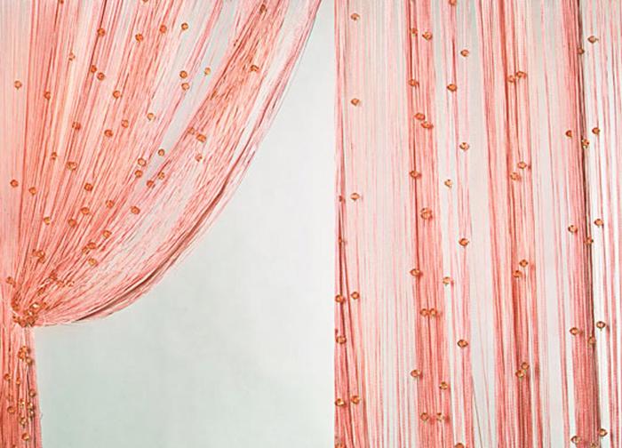 Штора нитяная Magnolia Кисея, на ленте, цвет: персиковый, высота 300 см. XLF SJ 054689Штора нитяная Magnolia Кисея выполнена из полиэстера. Изделие прекрасно подойдет для дизайнерских решений в вашем доме. Подходит как для зонирования пространства, так и декорации окна, как самостоятельное решение или дополнение к шторам.