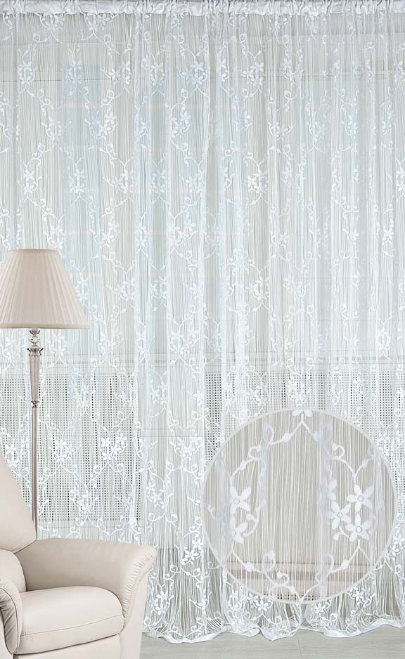 Штора нитяная Magnolia Кисея, на ленте, цвет: белый, высота 250 см. CQ M 90008(01)68583Штора нитяная Magnolia Кисея выполнена из полиэстера. Изделие прекрасно подойдет для дизайнерских решений в вашем доме. Подходит как для зонирования пространства, так и декорации окна, как самостоятельное решение или дополнение к шторам.