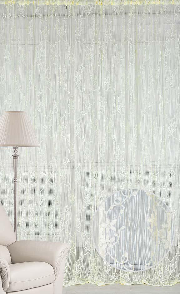 Штора нитяная Magnolia Кисея, на ленте, цвет: экрю, высота 250 см. CQ M 90008(203)68585Штора нитяная Magnolia Кисея выполнена из полиэстера. Изделие прекрасно подойдет для дизайнерских решений в вашем доме. Подходит, как для зонирования пространства так и декорации окна, как самостоятельное решение или дополнение к шторам.