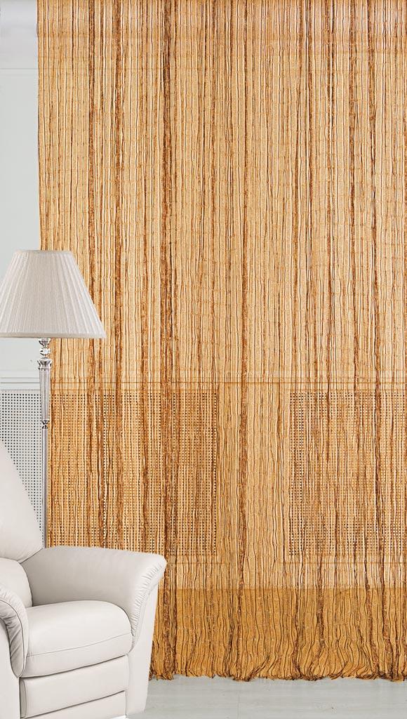 """Штора нитяная Magnolia """"Кисея"""" выполнена из полиэстера. Изделие прекрасно подойдет для дизайнерских решений в вашем доме. Подходит как для зонирования пространства, так и декорации окна, как самостоятельное решение или дополнение к шторам."""