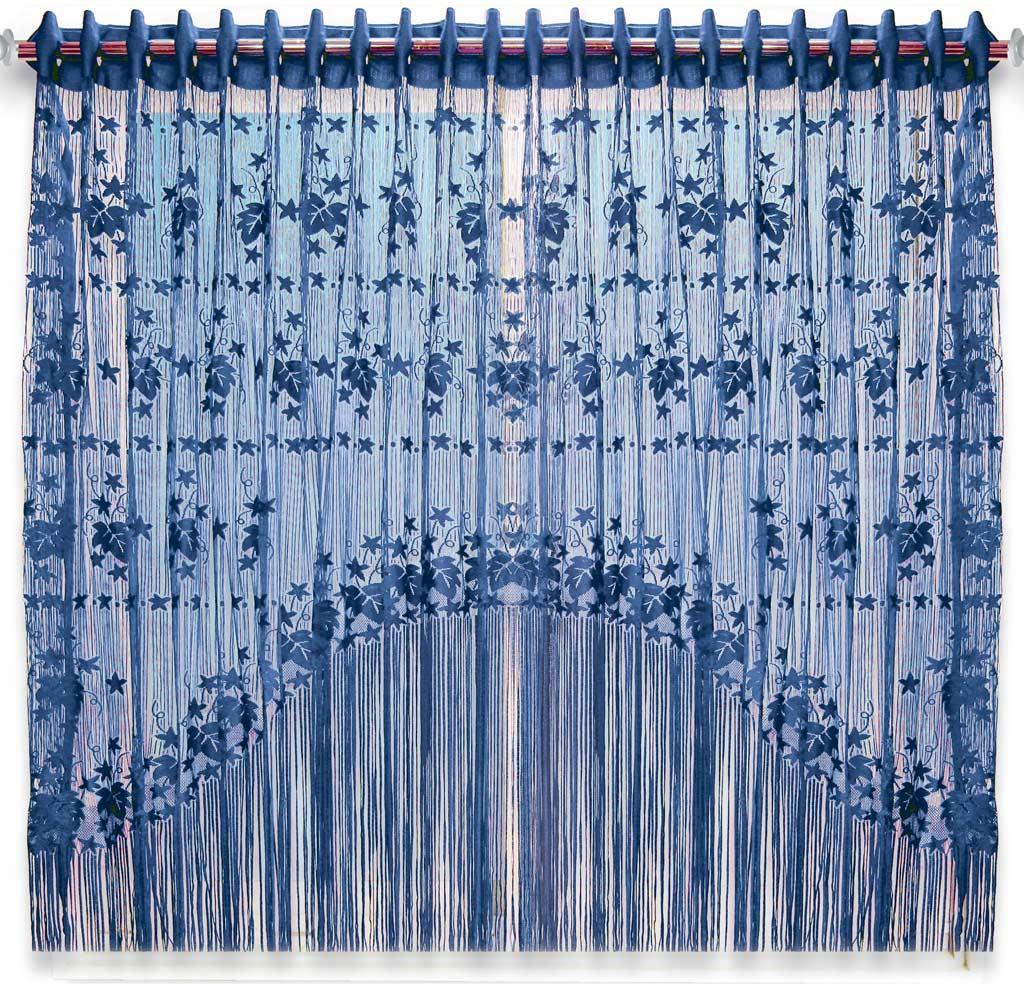 Штора нитяная Magnolia Кисея, на ленте, цвет: синий, высота 155 см. CQ M 90006(208)68788Штора нитяная Magnolia Кисея выполнена из полиэстера. Изделие прекрасно подойдет для дизайнерских решений в вашем доме. Подходит как для зонирования пространства, так и декорации окна, как самостоятельное решение или дополнение к шторам.