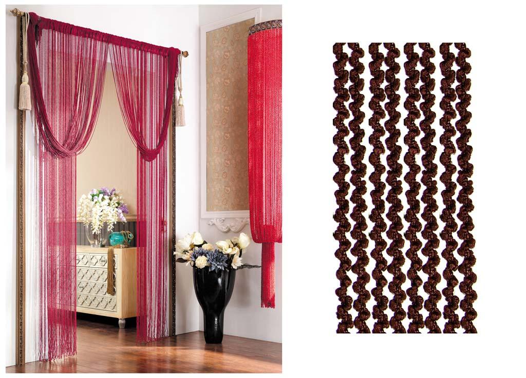 Штора нитяная Magnolia Кисея, цвет: темно-коричневый, высота 290 см. CQ X055-20473633Декоративная нитяная штора для дизайнерских решений в вашем доме. Подходит как для зонирования пространства, а так же декорации окна, как самостоятельное решение или дополнение к шторам.