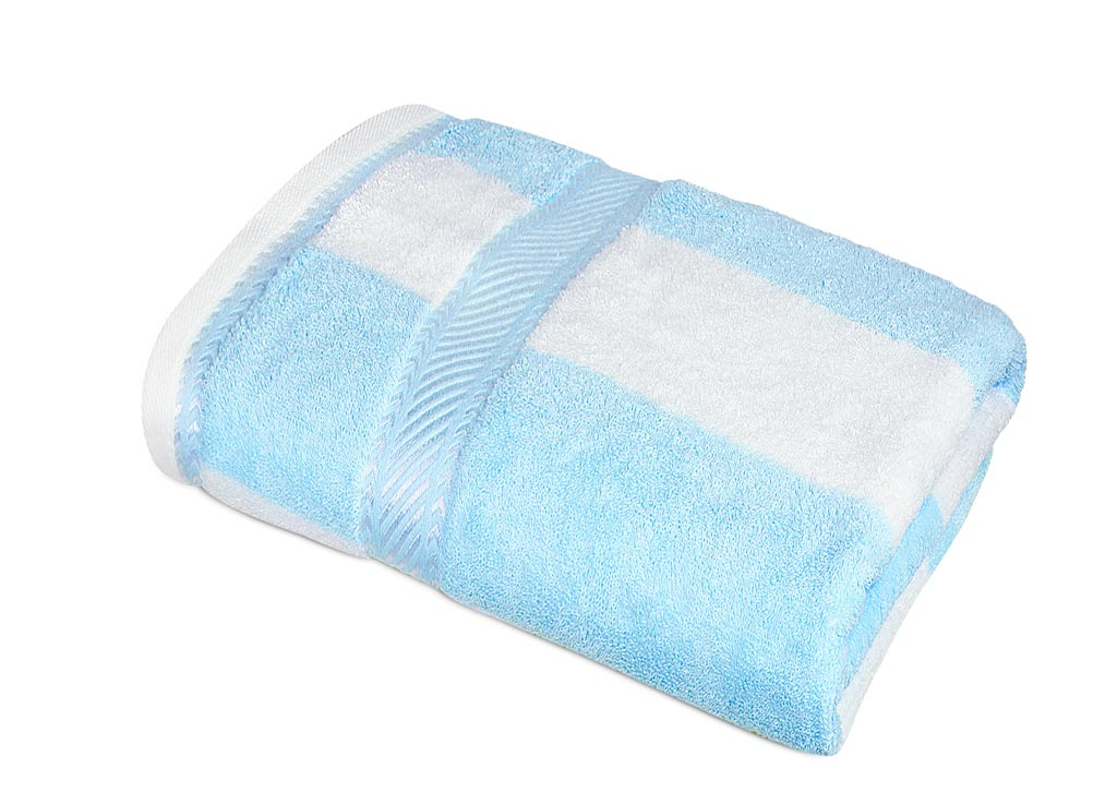 Полотенце Soavita Premium Полосы, 50х90 см, цвет: голубой87439Перед использованием постирать при температуре не выше 40 градусов