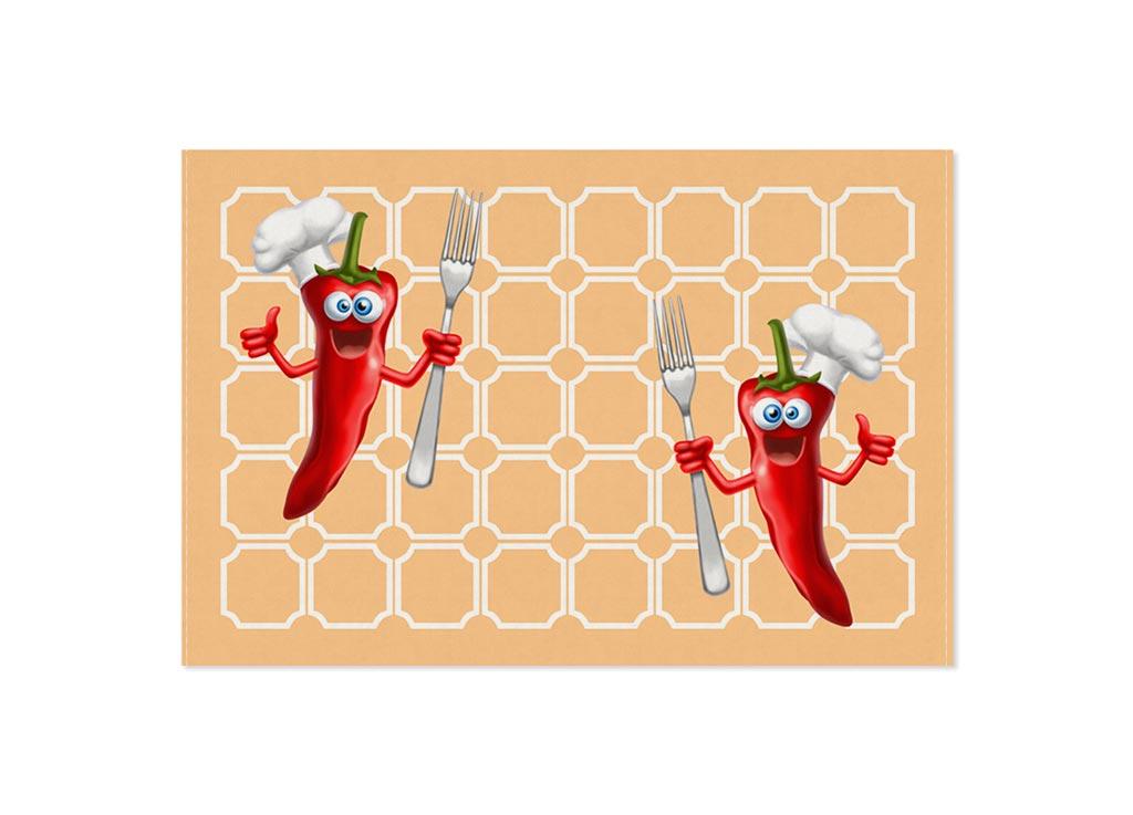 """Кухонное полотенце Soavita """"Чили"""" выполнено из хлопка.  Полотенца используются для протирки различных  поверхностей, также широко применяются в быту. Перед использованием постирать при температуре не выше 40 градусов."""