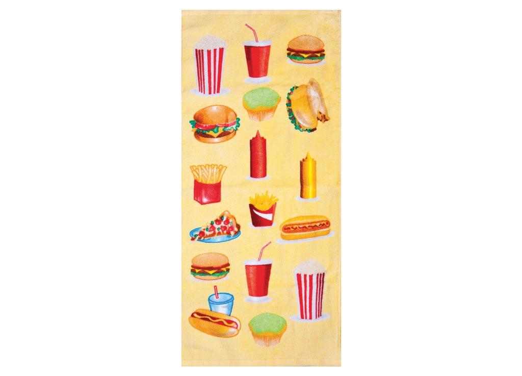 Полотенце кухонное Soavita Фаст-фуд, 34 х 76 см полотенце кухонное soavita цвет светло зеленый 40 х 60 см 48803