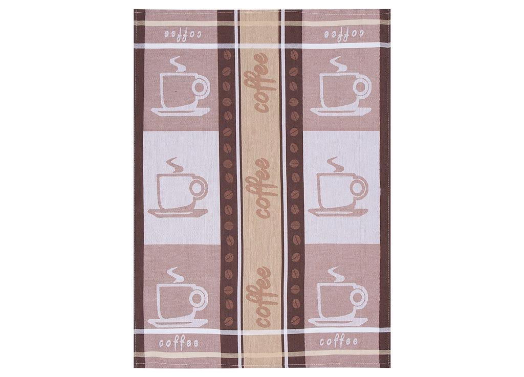 Полотенце Soavita Coffee, 50х70 см, цвет: бежевый, коричневый87493Перед использованием постирать при температуре не выше 40 градусов