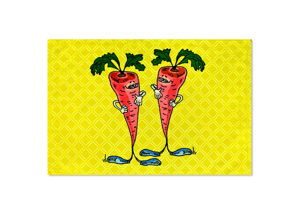Полотенце Soavita Морковь, цвет: желтый, 40 х 60 см87531Полотенце Soavita Морковь выполнено из 100% хлопка. Полотенце украшено ярким принтом. Изделие отлично впитывает влагу, быстро сохнет, сохраняет яркость цвета и не теряет форму даже после многократных стирок. Такое полотенце очень практично и неприхотливо в уходе. Оно создаст прекрасное настроение и украсит интерьер.Перед использованием постирать при температуре не выше 40 градусов.