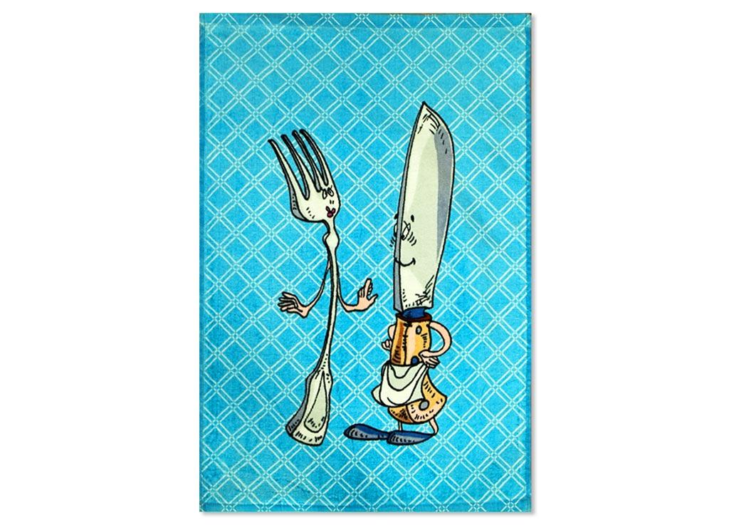 Полотенце кухонное Soavita Приборы, 40 х 60 см полотенце кухонное 34х76 soavita кухонный микс 4 велюр махра