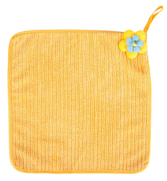 Салфетка кухонная Soavita Цветок, цвет: желтый, 30 х 30 см87573Салфетка Soavita Цветок выполнена из микрофибры и декорирована нежным цветком. Идеально подходит для сухой и влажной чистки. Полностью удаляет воду, не оставляя следа. Превосходит все традиционные аналоги салфеток. В сухом виде подходит для деликатных поверхностей: стекол, зеркал, оптики, мониторов, мебели, бытовой техники и многого другого. Во влажном виде незаменима на кухне, в ванной, в уходе за автомобилем. Изделие оснащено петелькой для подвешивания на крючок.Салфетка создаст прекрасное настроение и украсит интерьер вашей кухни, а также прекрасно подойдет в качестве приятного презента. Перед использованием постирать при температуре не выше +40°С.