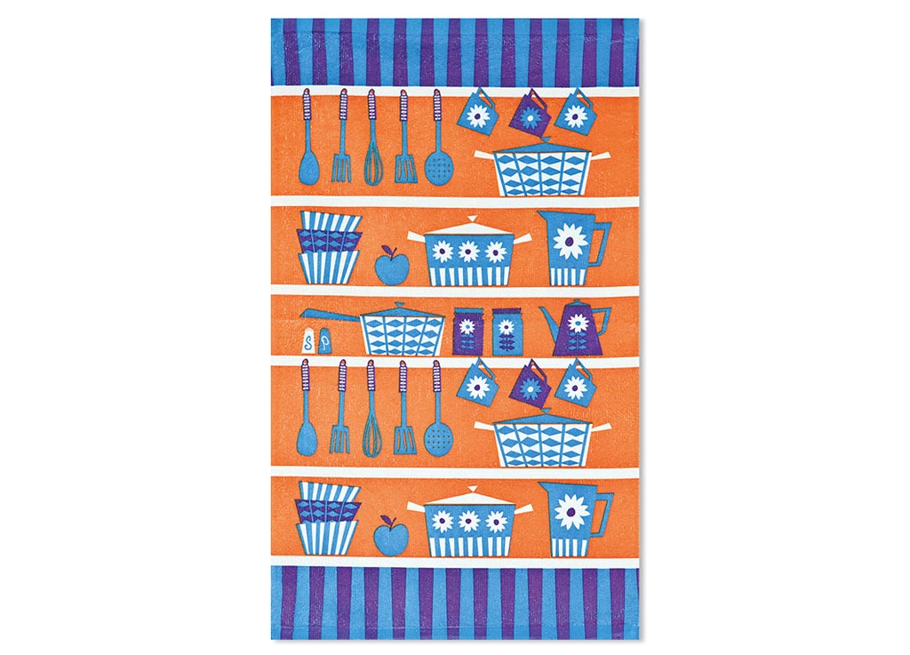 Салфетка Soavita Кухонная утварь, цвет: терракот, голубой, лиловый, 38 х 64 см87585Кухонная салфетка Soavita Кухонная утварь выполнена из высококачественной микрофибры и украшена оригинальным рисунком. Изделие отлично впитывает влагу, быстро сохнет, сохраняет яркость цвета и не теряет форму даже после многократных стирок. Салфетка очень практична и неприхотлива в уходе. Она создаст прекрасное настроение и украсит интерьер вашей кухни.Перед использованием постирать при температуре не выше 40°C.
