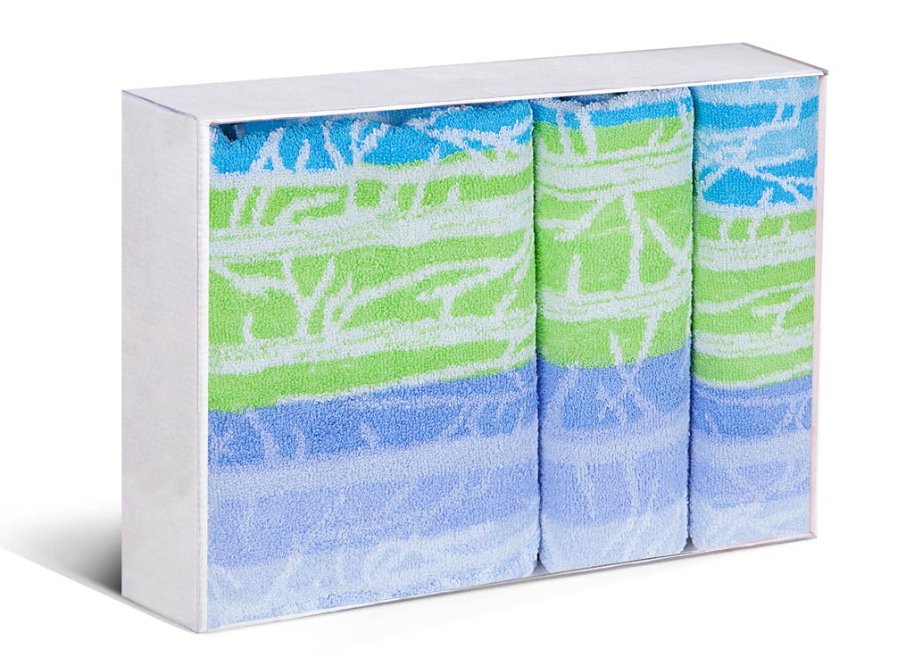 Набор полотенец Soavita Интер, цвет: голубой, зеленый, 3 шт87587Набор Soavita Интер состоит из трех полотенец, которые выполнены из 100% хлопка. Изделия отлично впитывают влагу, быстро сохнут, сохраняют яркость цвета и не теряют форму даже после многократных стирок. Полотенца очень практичны и неприхотливы в уходе. Такой набор Soavita Интер создаст прекрасное настроение и украсит интерьер в ванной комнате.Комплектация: 3 шт.