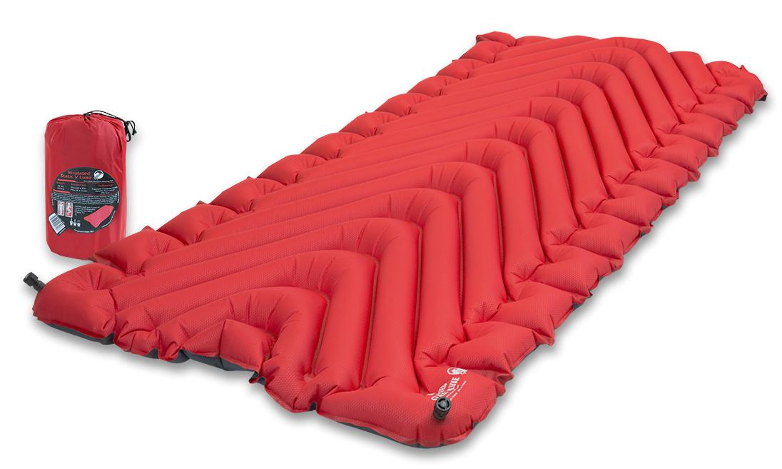 Надувной коврик Klymit  Insulated Static V Luxe pad Red , цвет: красный - Туристические коврики