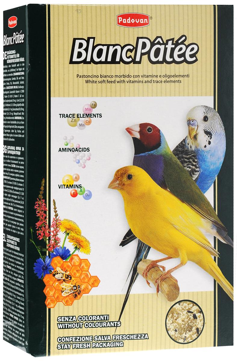 Корм Padovan BlancPatee дополнительный, для декоративных птиц при линьке, мягкий, 300 г padovan корм padovan scagliola корм для птиц зёрна канаречнных семян 25 кг