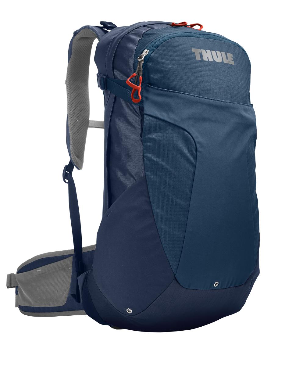 Рюкзак мужской Thule Capstone, цвет: синий, серый, 22 л. 207301207301Рюкзак мужской Thule Capstone, изготовленный из прочного нейлона, идеально подходит для однодневных путешествий или коротких походов. Рюкзак имеет одно основное отделение на застежке-молнии, внутри которого расположен карман на резинке. Спереди расположен небольшой карман на молнии с карабином для крепления ключей и открытый карман Shove-it Pocket с защелками по бокам, который обеспечивает быстрый доступ к вещам. По бокам имеются два открытых кармана для емкостей с водой. Эти 3 кармана снабжены небольшим отверстием для трубки с водой. Также предусмотрен эластичный шнурок для крепления трекинговых палок и ледоруба. Карман для вывода наушников позволяет слушать музыку прямо в походе. Рюкзак снабжен системой крепления MicroAdjust, которая обеспечивает максимальную регулировку для идеальной посадки. Изделие имеет мягкие плечевые ремни с грудной стяжкой и поясные ремни, фиксируемые карабином. По бокам поясных ремней расположен один открытый карман и один карман на молнии, которые удобны для хранения перекусов. Натянутая сетчатая задняя панель обеспечивает максимальную воздухопроницаемость, а металлические вставки прочность и удобство. Рюкзак снабжен ярким дождевиком на резинке, который хранится в кармане в нижней части. Рюкзак Thule Capstone сделает ваше путешествие более комфортным.Что взять с собой в поход?. Статья OZON Гид