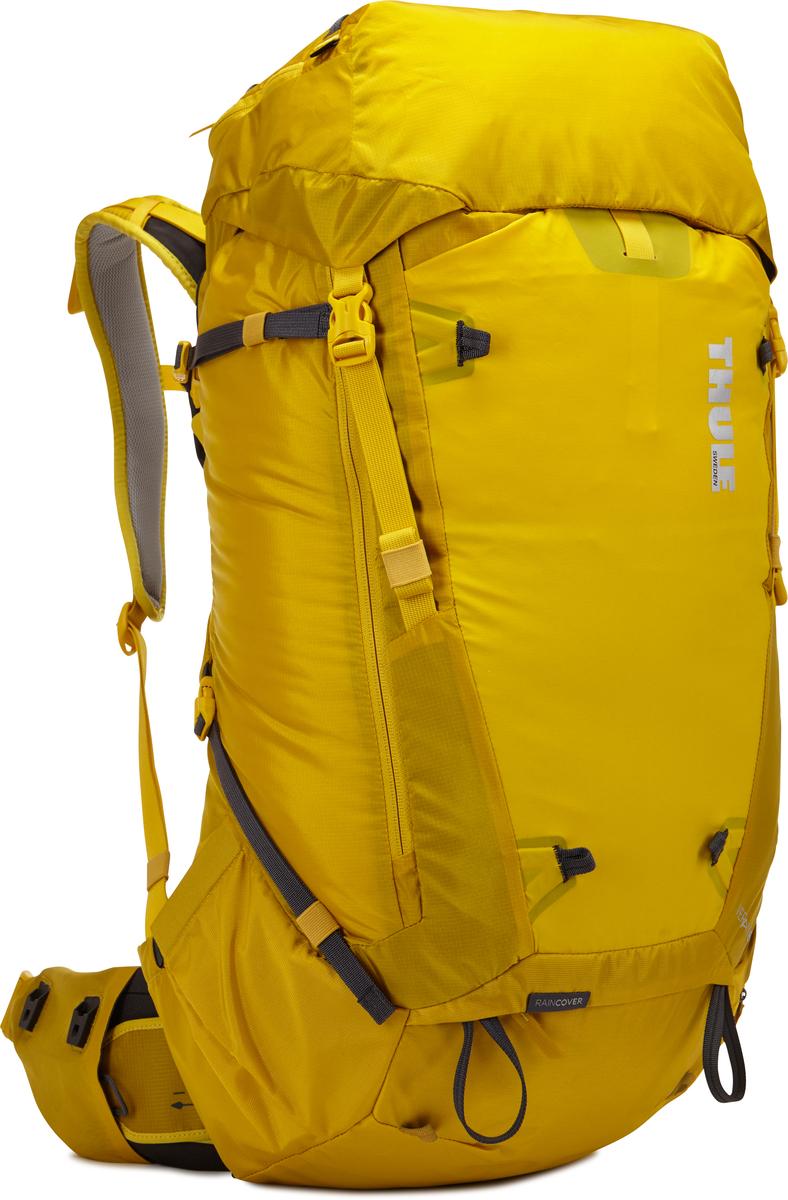 Рюкзак мужской Thule Versant, цвет: желтый, 70 л211104Мужской туристический рюкзак Thule Versant 70 л - универсальный легкий походный рюкзак, укомплектован регулируемыми поясными ремнями, легкодоступными карманами и верхним клапаном, который трансформируется в рюкзак с одной лямкой. Идеальный вариант для тех, кто любит более долгие походы и нуждается в более вместительном (но не более тяжелом) рюкзаке. Легко регулируется для идеальной посадки: по спине в пределах 12 см, поясной ремень - в диапазоне 10 см.Съемный водонепроницаемый сворачивающийся карман VersaClick защищает снаряжение от непогоды. Регулируемый поясной ремень совместим со взаимозаменяемыми аксессуарами VersaClick (продаются отдельно.) Система StormGuard - это комбинация частичного дождевого чехла с водонепроницаемым нижним слоем для создания полностью защищенного от непогоды рюкзака. Конструкция StormGuard обеспечивает удобный доступ к снаряжению, препятствует проникновению влаги и более надежна, чем обычный дождевой чехол. Удобный доступ к боковым карманам даже при надетом дождевом чехле. Верхняя крышка трансформируется в рюкзак с одной лямкой для горных прогулок. Большая панель с подковообразной молнией обеспечивает удобный доступ. Две петли-крепления для треккинговых палок или ледорубов. Передний карман Shove-it Pocket для быстрого доступа.