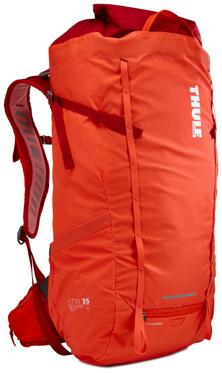 Рюкзак мужской Thule Stir 35L, цвет: оранжевый, 35 л211401Мужской рюкзак для пеших путешествий Thule Stir с объемом 35 л. Благодаря простому и элегантному дизайну в сочетании с регулировкой рюкзака по спине, множеством легкодоступных карманов и дождевым чехлом этот рюкзак идеально подходит для более долгих дневных походов. Легкодоступная крышка с защитным откидным клапаном. Система StormGuard - это комбинация частичного дождевого чехла с водонепроницаемым нижним слоем для создания полностью защищенного от непогоды рюкзака. Конструкция StormGuard обеспечивает удобный доступ к снаряжению, препятствует проникновению влаги и более надежна, чем обычный дождевой чехол. Регулировка по спине в пределах 10 см обеспечивает идеальную посадку. Съемные поясной и нагрудный ремни для городского использования. Боковая молния для удобного доступа к снаряжению. Эластичный карман на плечевом ремне для хранения телефона и других небольших предметов. Точка крепления петли для фонаря и светоотражающий материал. Передний карман Shove-it Pocket для быстрого доступа. Две петли-крепления для треккинговых палок или ледорубов.