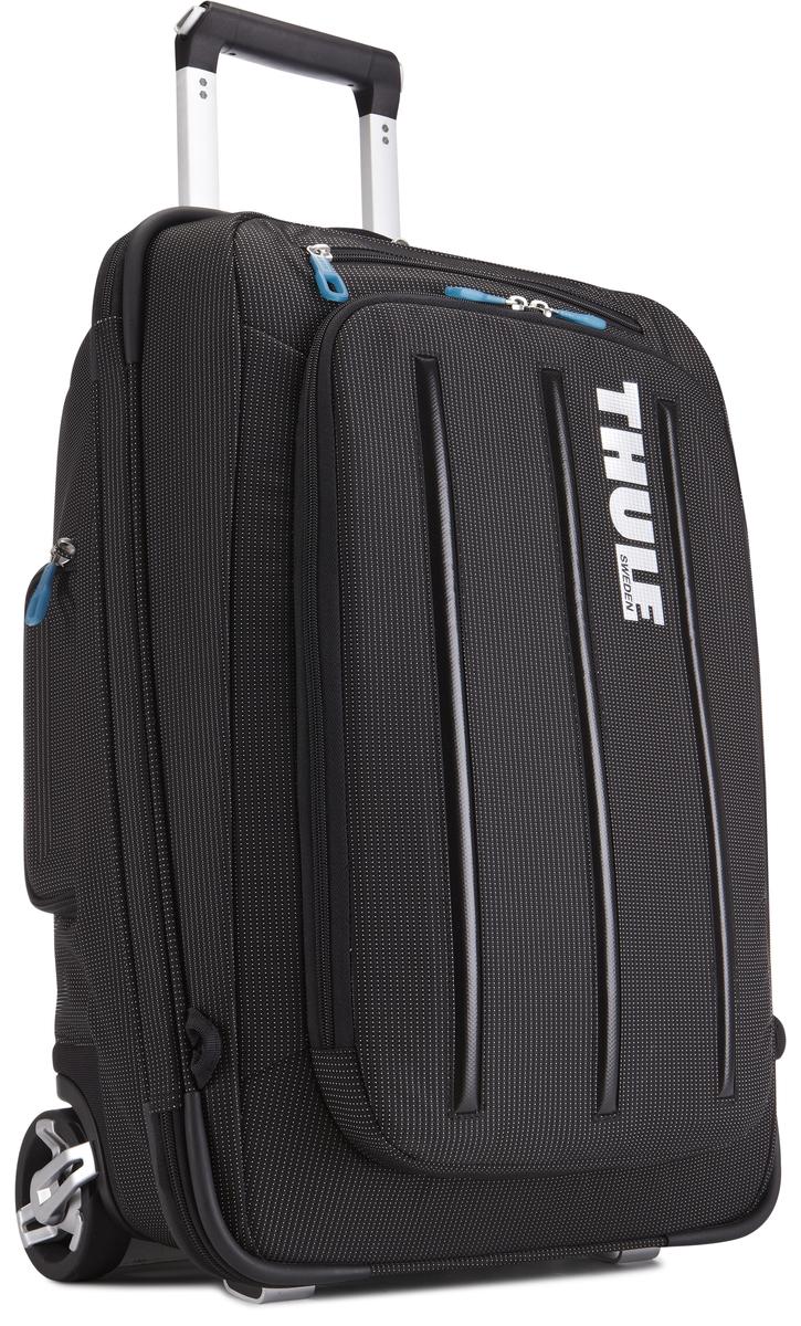 Чемодан-рюкзак Thule Crossover Rolling-On, на колесах, цвет: черный, 38 л. TCRU1153201502Чемодан-рюкзак Thule Crossover Rolling-On - это два в одном, вертикальная сумка на колесиках с убирающимися ремнями для переноски на плечах. Особенности:- Верхний карман с мягкой прокладкой подойдет для 15-дюймового MacBook Pro или ноутбука - С помощью потайных ремней вы сможете легко и быстро надеть сумку на плечи. - Колеса не касаются спины, когда сумка-тележка используется как рюкзак, что обеспечивает чистоту и комфорт во время путешествия. - Облегченный, но прочный материал также является водостойким. - Надежный экзоскелет и задняя обшивка из полипропилена обеспечат надежную защиту во время путешествий в самых сложных условиях. - Крепкие колеса увеличенного размера и телескопические ручки с технологией Thule V-Tubing гарантируют мягкое, плавное и ровное движение в течение многих лет. - Изготовленное по технологии горячей прессовки ударопрочное отделение SafeZone защитит ваши солнечные очки, iPhone, портативную электронику и другие хрупкие вещи - Приподнятые направляющие обеспечивают дополнительную защиту сумки и ее содержимого. - Ремень с петлей для присоединения дополнительной сумки - Главное отделение с отсеками поможет отделить чистое от грязного, мокрое от сухого и деловое от повседневного. - Соответствует требованиям к ручной клади в большинстве авиакомпаний.
