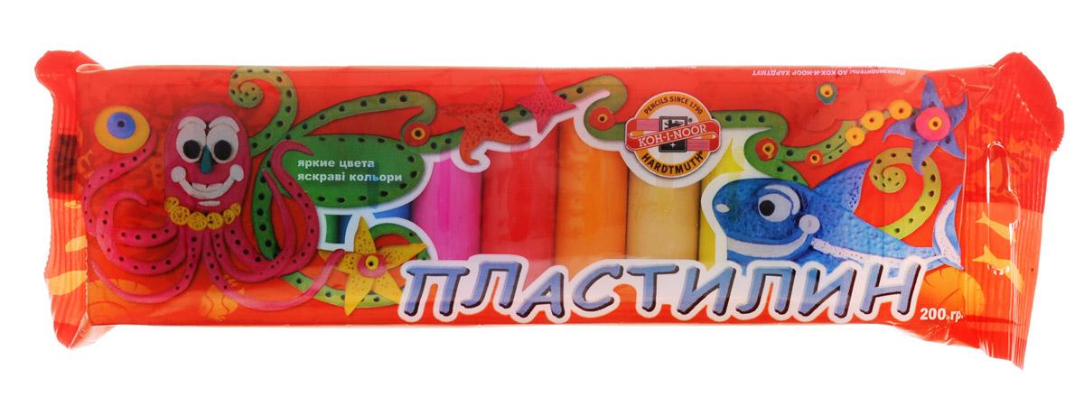 Koh-i-Noor Пластилин 10 цветов всё для лепки koh i noor пластилин детский в картонной упаковке с инструментом 10 цветов 200 г