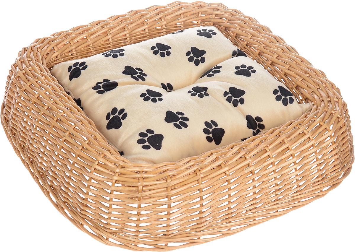 Лежанка для животных Каскад №1, плетеная, 49 х 48 х 10 см