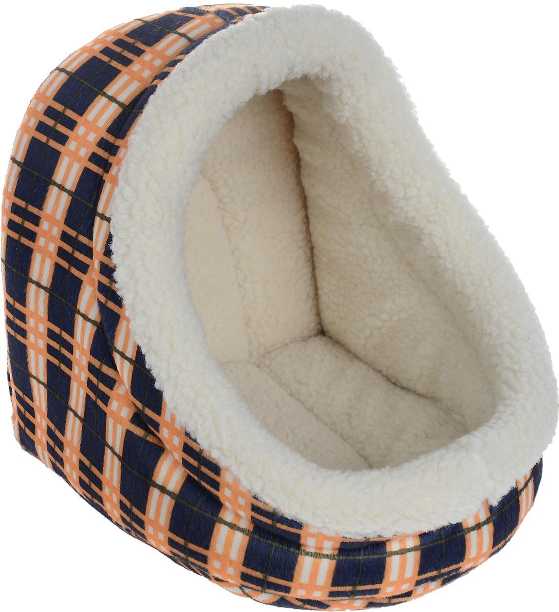 Домик для животных Каскад Клетка. №1, 30 х 29 х 27 см91002862Домик для животных Каскад Клетка. №1, выполненный из высококачественного текстиля, обязательно понравится вашему питомцу. Домик предназначен для собак мелких пород и кошек. Он очень удобный и уютный. Ваш любимец обязательно захочет забраться в этот домик, как только его увидит. Компактные размеры позволят поместить домик где угодно, а приятная цветовая гамма сделает его оригинальным дополнением любого интерьера.