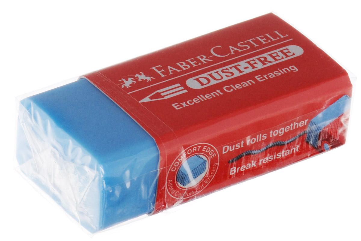 Faber-Castell Ластик Dust-Free цвет голубой187125_голубойЛастик Faber-Castell Dust-Free станет незаменимым аксессуаром на рабочемстоле не только школьника или студента, но и офисного работника.Аккуратный и не оставляет грязных разводов. Кроме того высококачественныйластик не повреждает бумагу даже при многократном стирании.