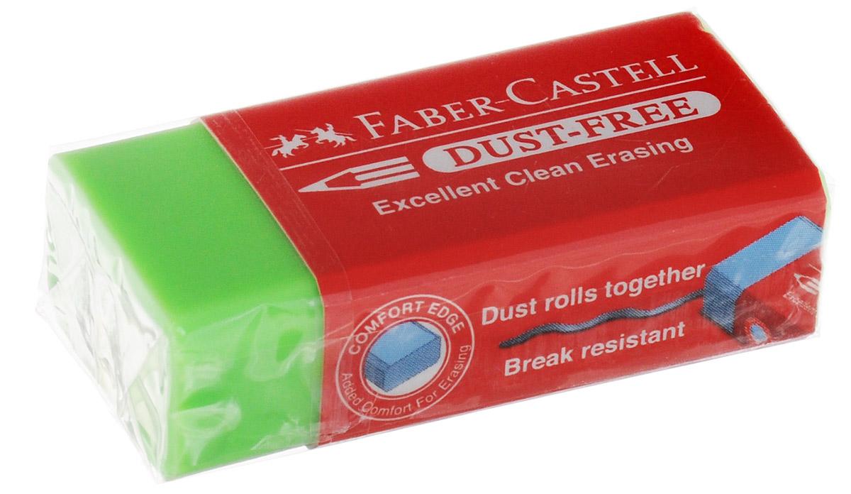 Faber-Castell Ластик Dust-Free цвет салатовый187125_салатовыйЛастик Faber-Castell Dust-Free станет незаменимым аксессуаром на рабочем столе не только школьника или студента, но и офисного работника. Аккуратный ластик не оставляет грязных разводов. Кроме того высококачественный ластик не повреждает бумагу даже при многократном стирании.