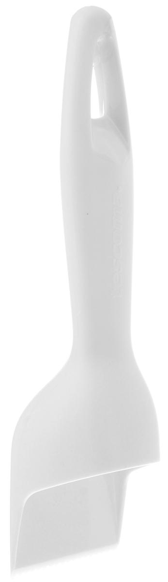 Скребок для рыбы Tescoma Presto, цвет: белый, длина 18,5 см420121_белыйСкребок Tescoma Presto прекрасно подходит для легкого, быстрого и безопасного удаления малой и большой чешуи пресноводной и морской рыбы. Изделие выполнено из высококачественного прочного пластика. Зубчатое лезвие приподнимает чешую и легко отделяет ее от кожи. Чешуя при чистке не разлетается.Можно мыть в посудомоечной машине.