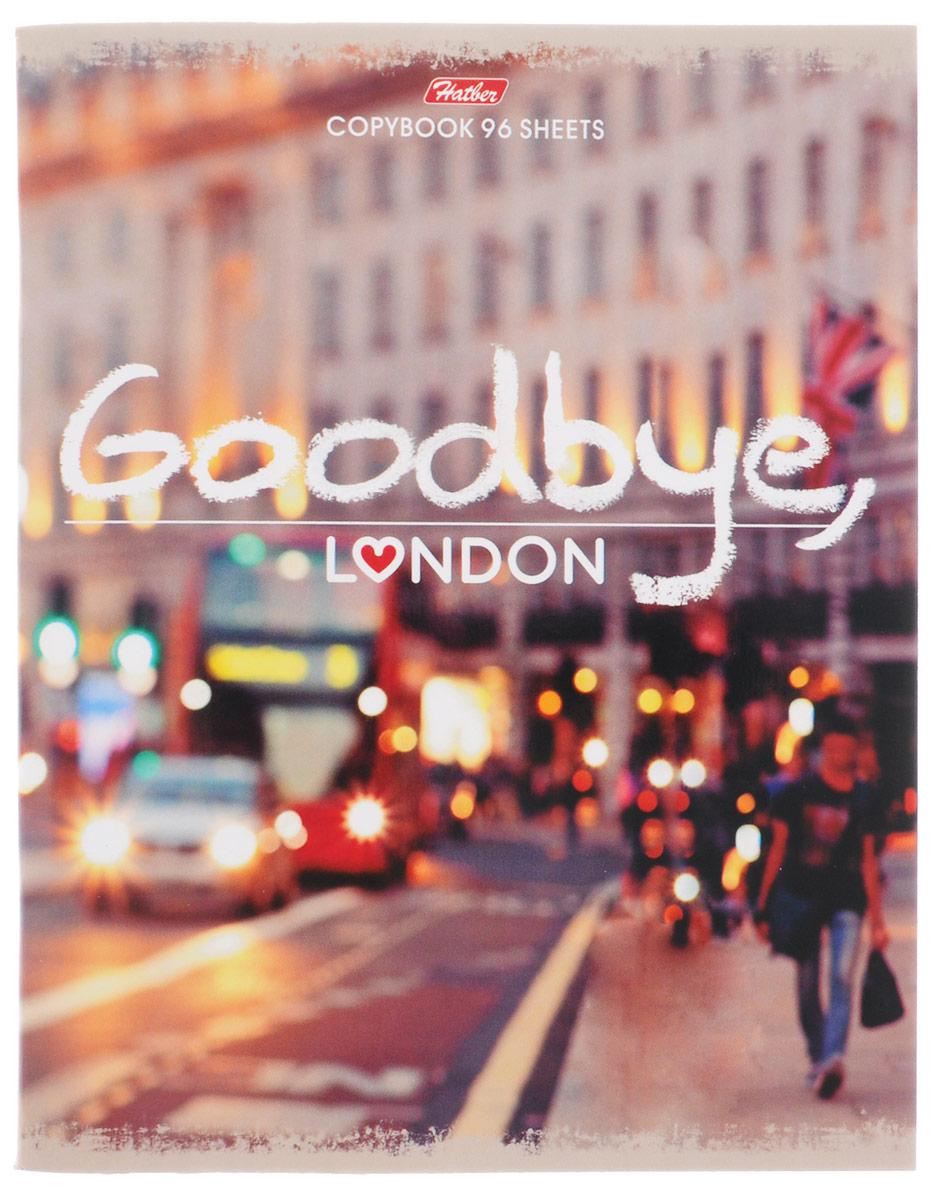 Hatber Тетрадь Goodbye London 96 листов в клетку96Т5В1_15046Тетрадь Hatber Goodbye, London формата A5 подойдет как школьнику, так и студенту.Обложка выполнена из плотного картона, что позволит сохранить тетрадь в аккуратном состоянии на протяжении всего времени использования. Лицевая сторона оформлена надписью Goodbye, London и стильной фотографией города.Внутренний блок тетради, соединенный двумя металлическими скрепками, состоит из 96 листов белой бумаги. Стандартная линовка в клетку голубого цвета дополнена полями. В верхнем углу каждой странички находится разделенное точками место для даты, в нижнем - пустые квадратики для номеров страниц.