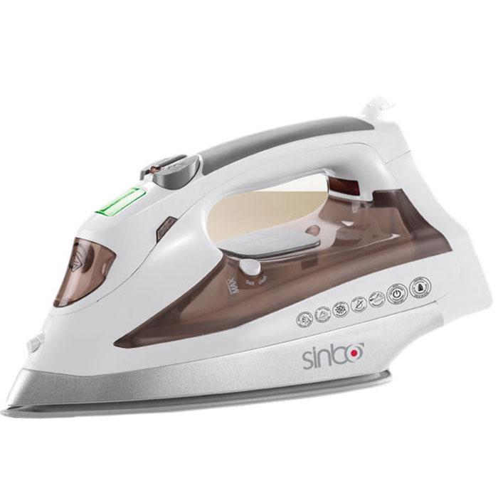Sinbo SSI 2876, White Brown утюгSSI 2876_White BrownУтюг Sinbo SSI 2876 превратит процесс глажки различных видов ткани в легкое и неутомительное занятие. Прибор обладает всеми необходимыми характеристиками для отличного результата: сухое глажение, отпаривание с регулировкой, функция разбрызгивания, а также возможность вертикального отпаривания и LCD - дисплей. Модель оснащена функциями парового удара и самоочистки. Сетевой шнур крепится при помощи шарового механизма. Утюг также имеет подошву с антипригарным покрытием и укомплектован мерным стаканчиком.
