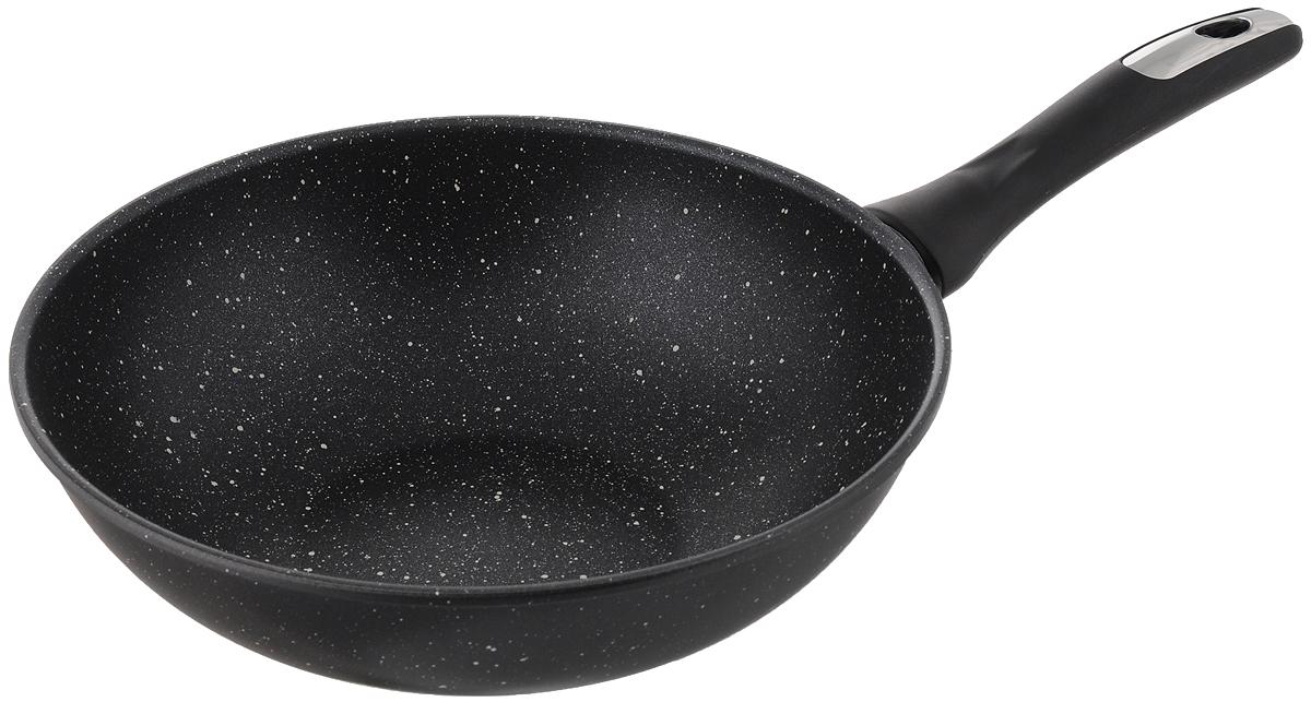 Сковорода-вок Катюша, с антипригарным покрытием. Диаметр 28 см сковорода вок oursson цвет темная вишня диаметр 28 см