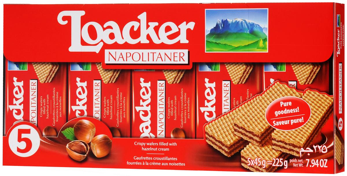 Loacker Наполитанер вафли, 225 г вафли обожайка вкус шоколад 225 г