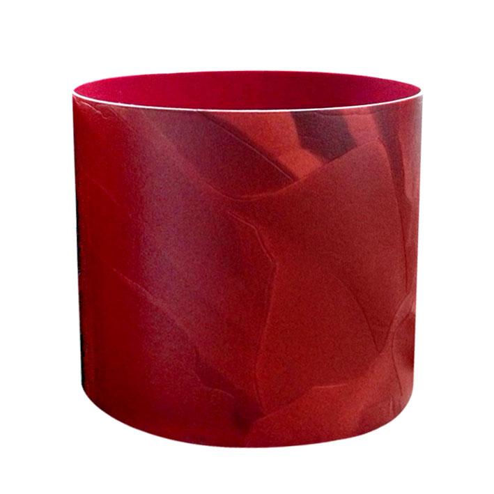 Горшок для цветов Miolla Кожа, цвет: красный, со скрытым поддоном, 2,8 л набор горшков для цветов miolla кожа со скрытым поддоном 4 предмета