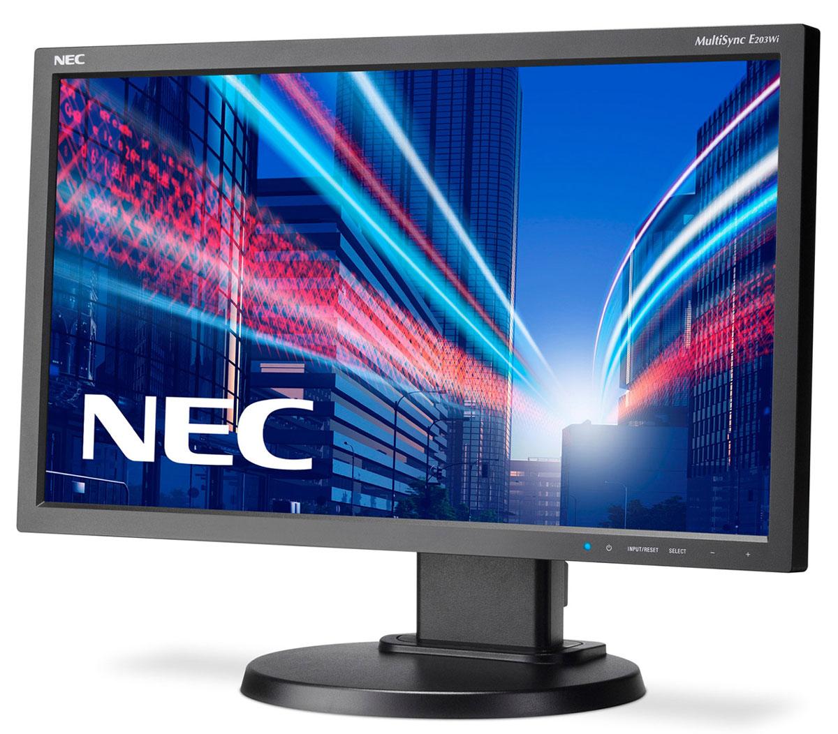 NEC E203Wi-BK, Black мониторE203Wi-BKNEC E203Wi - это экономичный 20 монитор формата 16:9. Он располагает светодиодной фоновой подсветкой, возможностью подключения через DisplayPort, а также возможностью полной регулировки. Благодаря низкому энергопотреблению и низким эксплуатационным расходам этот дисплей является идеальным решением для эксплуатации в профессиональных офисных условиях. Отличные эргономические характеристики, а также интеллектуальные свойства, например, датчик рассеянного света, обеспечивают удобство в обращении и позволяют повысить производительность. Идеальное решение для стандартной эксплуатации в офисах крупного и среднего бизнеса с учетом экологического фактора!