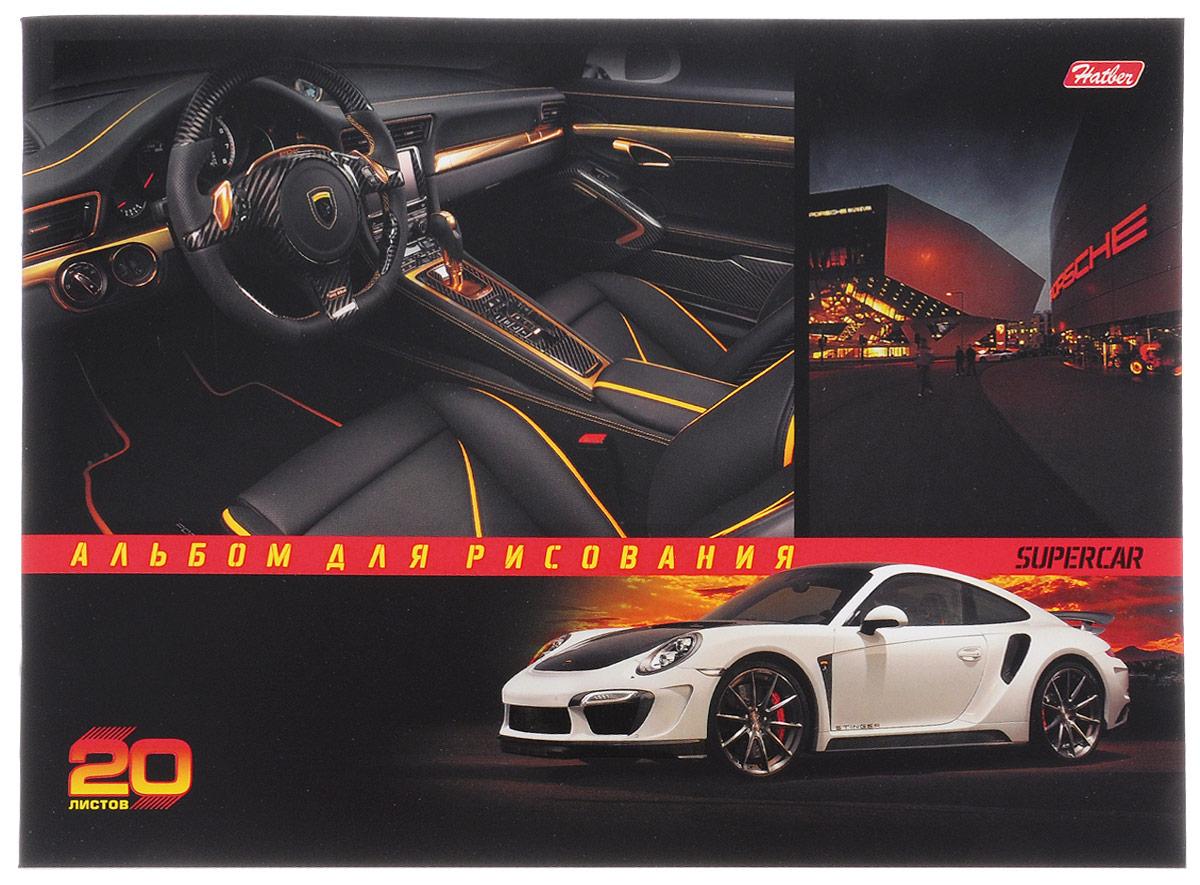 Hatber Альбом для рисования Porsche 20 листов20А4вмВ_14547Альбом для рисования Hatber Porsche будет вдохновлять ребенка на творческий процесс.Альбом изготовлен из белоснежной бумаги с яркой обложкой из плотного картона, оформленной изображением стильного автомобиля. Внутренний блок альбома состоит из 20 листов бумаги. Способ крепления - скрепки.Высокое качество бумаги позволяет рисовать в альбоме карандашами, фломастерами, акварельными и гуашевыми красками. Во время рисования совершенствуются ассоциативное, аналитическое и творческое мышления. Занимаясь изобразительным творчеством, малыш тренирует мелкую моторику рук, становится более усидчивым и спокойным.