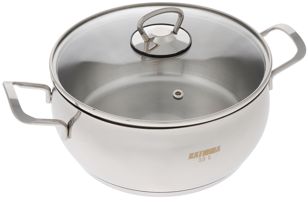 Кастрюля  Катюша  с крышкой, 3,8 л - Посуда для приготовления