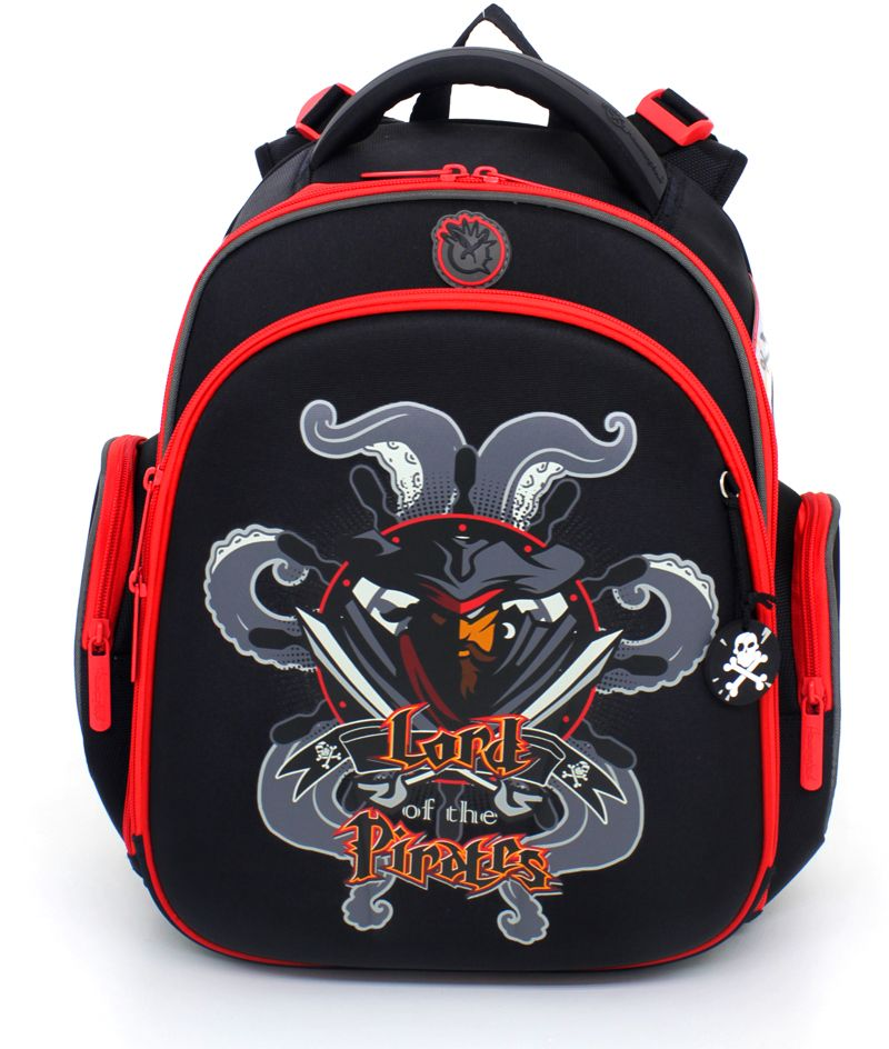 Hummingbird Ранец школьный Lord Of The Pirates с наполнением 1 предмет цвет черный красный