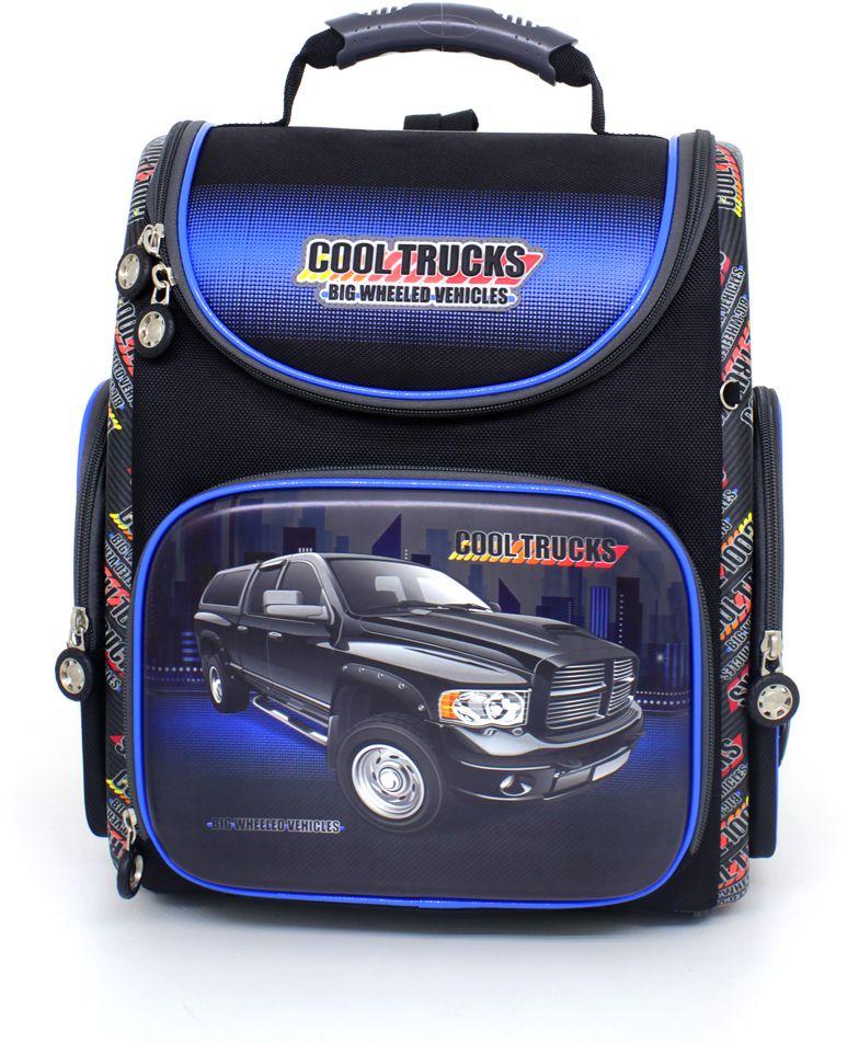 Hummingbird Ранец школьный Cool Trucks с наполнением 1 предмет цвет черный синий