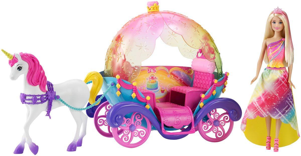 Barbie Игровой набор с куклой Радужная карета