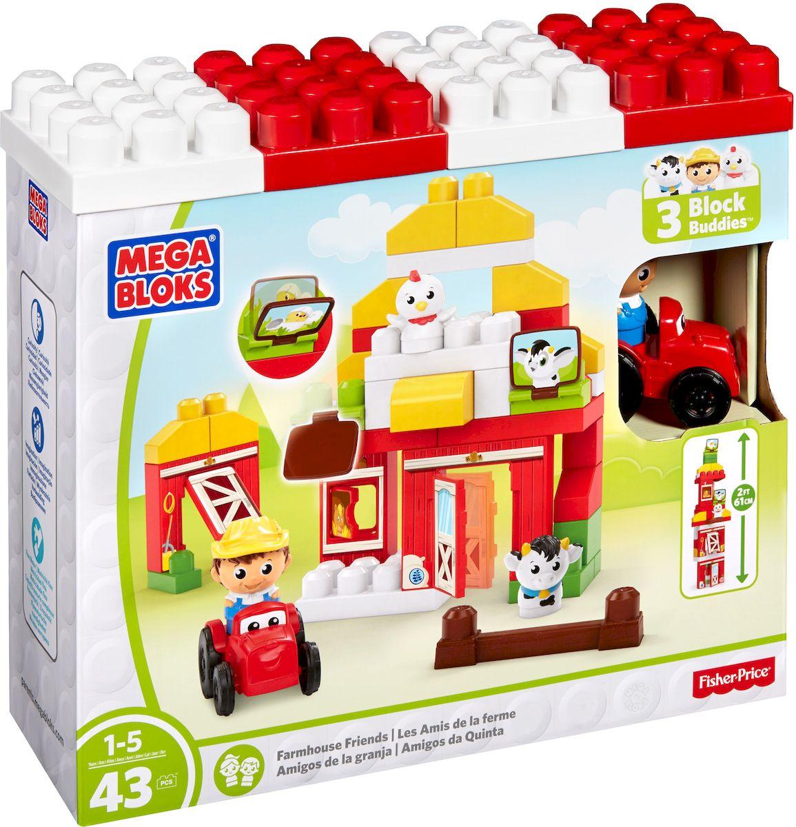 Mega Bloks First Builders Конструктор Друзья на ферме - Игрушки для малышей