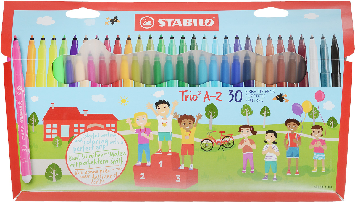 Stabilo Набор фломастеров Trio A-Z 30 цветов - Письменные принадлежности - Фломастеры