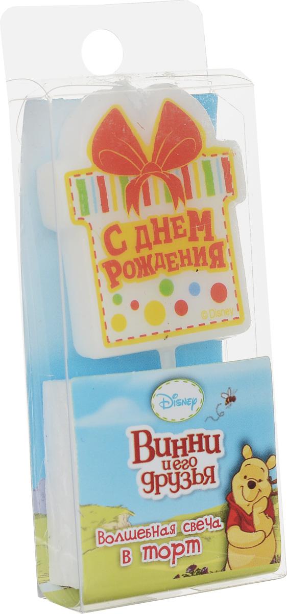 Disney Свеча для торта С днем рождения Винни и его друзья disney гирлянда детская на люверсах с днем рождения медвежонок винни