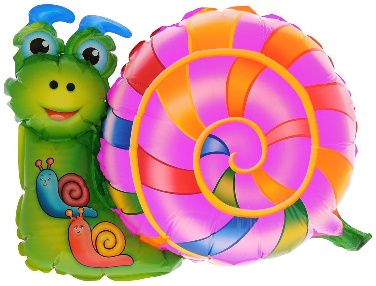 Sima-land Шар воздушный Улитка цвет розовый зеленый -  Воздушные шарики