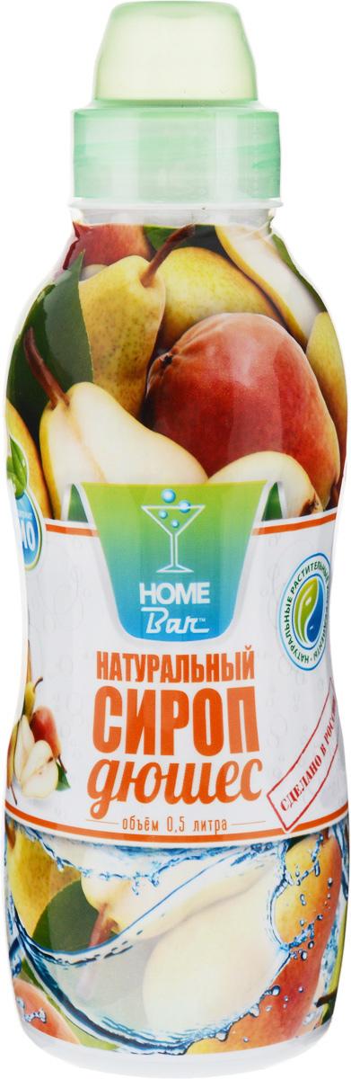Home Bar Дюшес натуральный сироп, 0,5 л4627082260328Сироп Home Bar Дюшес с ярко выраженным ароматом и вкусом спелой груши. Оказывает бодрящее, освежающее действие, улучшает настроение. Безалкогольный сироп используется для приготовления освежающих лимонадов, десертов, коктейлей. Для приготовления 4 литров напитка.Сиропы Home Bar произведены из натурального сырья в России в Кабардино-Балкарии.