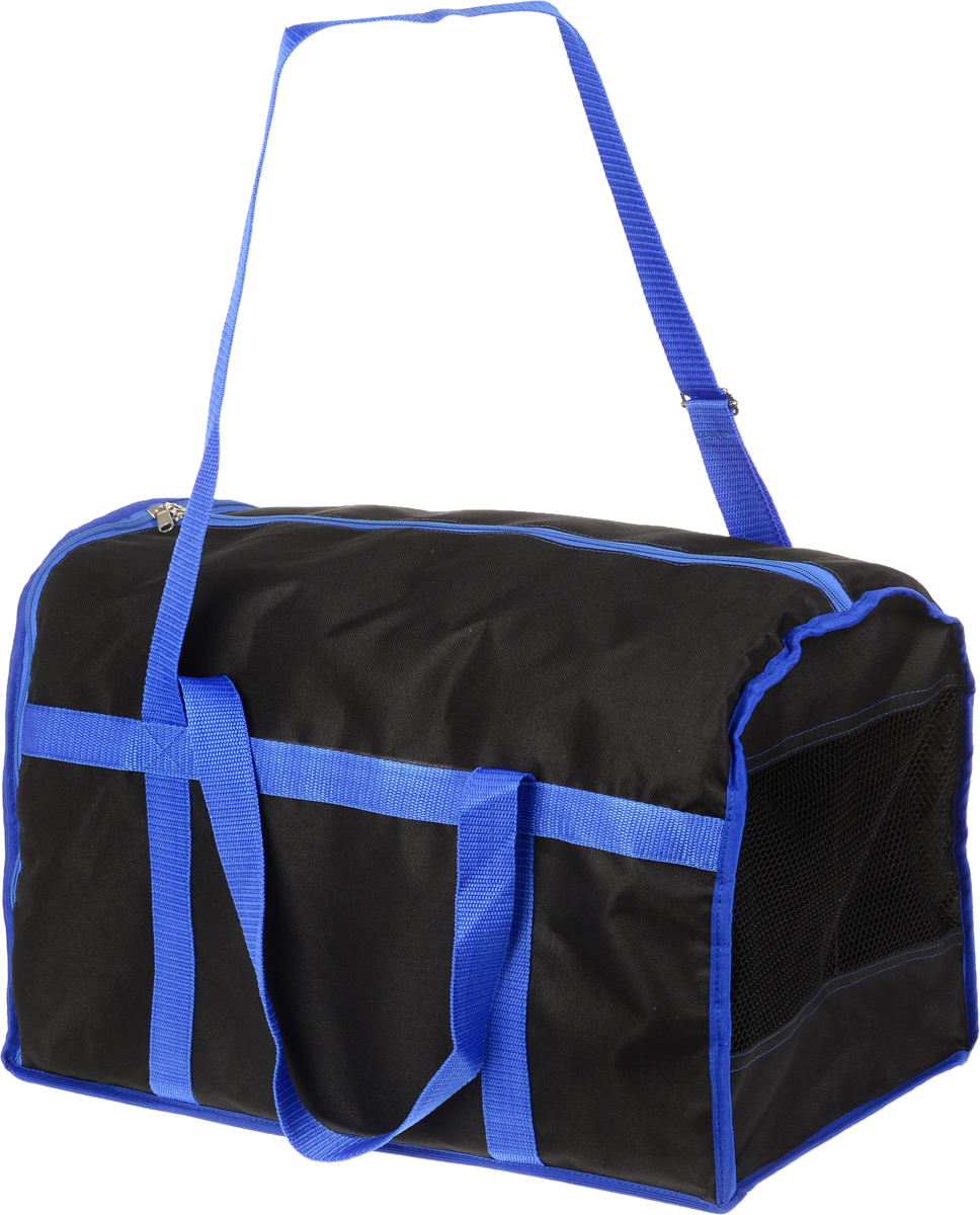 Сумка-переноска для животных Каскад Спорт, цвет: черный, синий, 42 х 30 х 32 см 5 11