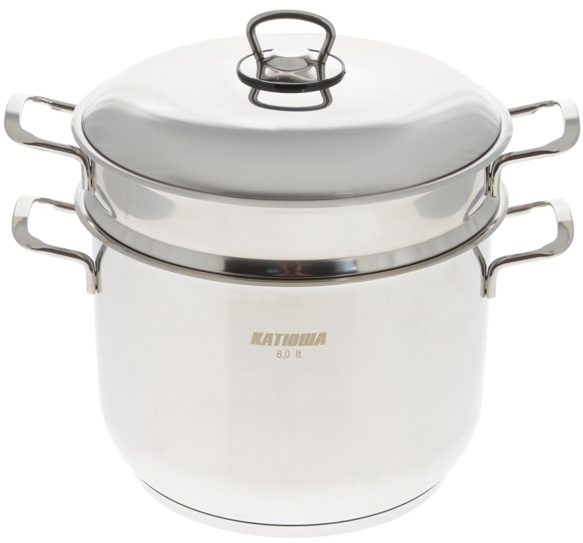 Пароварка  Катюша  с крышкой, 2-уровневая, 8 л - Посуда для приготовления